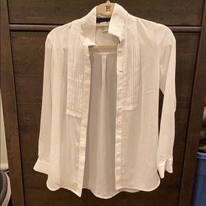 White button down blouse
